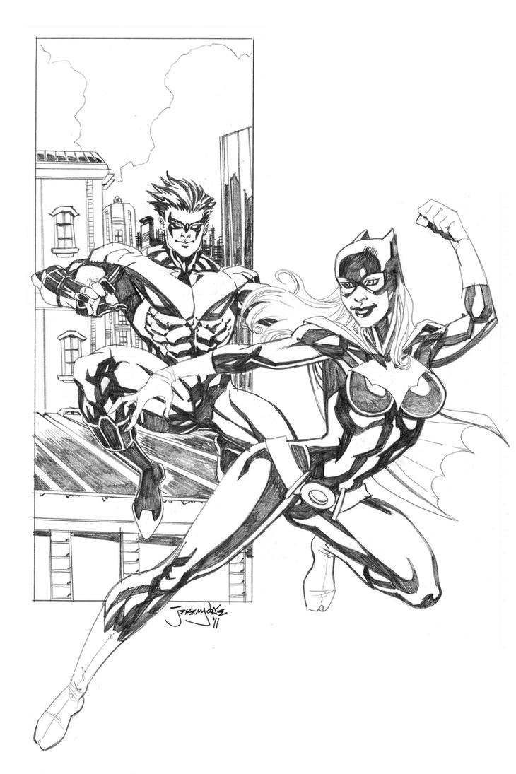 Nightwing and Batgirl for C2E2 by thejeremydale on DeviantArt