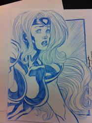 Jean Grey 90s X-Men sketchity by thejeremydale
