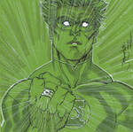 Green Lantern con sketch Megacon 2012