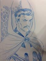 Dr Strange con sketch by thejeremydale