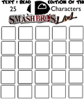 Top 25 Smash Bros Lawl Character -Text  Read Edit