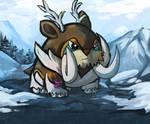 Pokemon Fusion, Mamoswine + Sawsbuck winter!