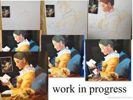 Fragonard- Work in progress by DororoBibi