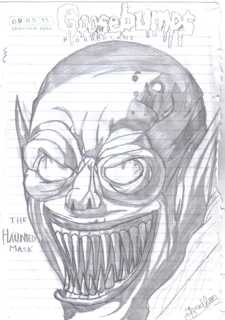 Goosebumps the haunted mask by hakuisthebest on deviantart for Goosebumps coloring pages