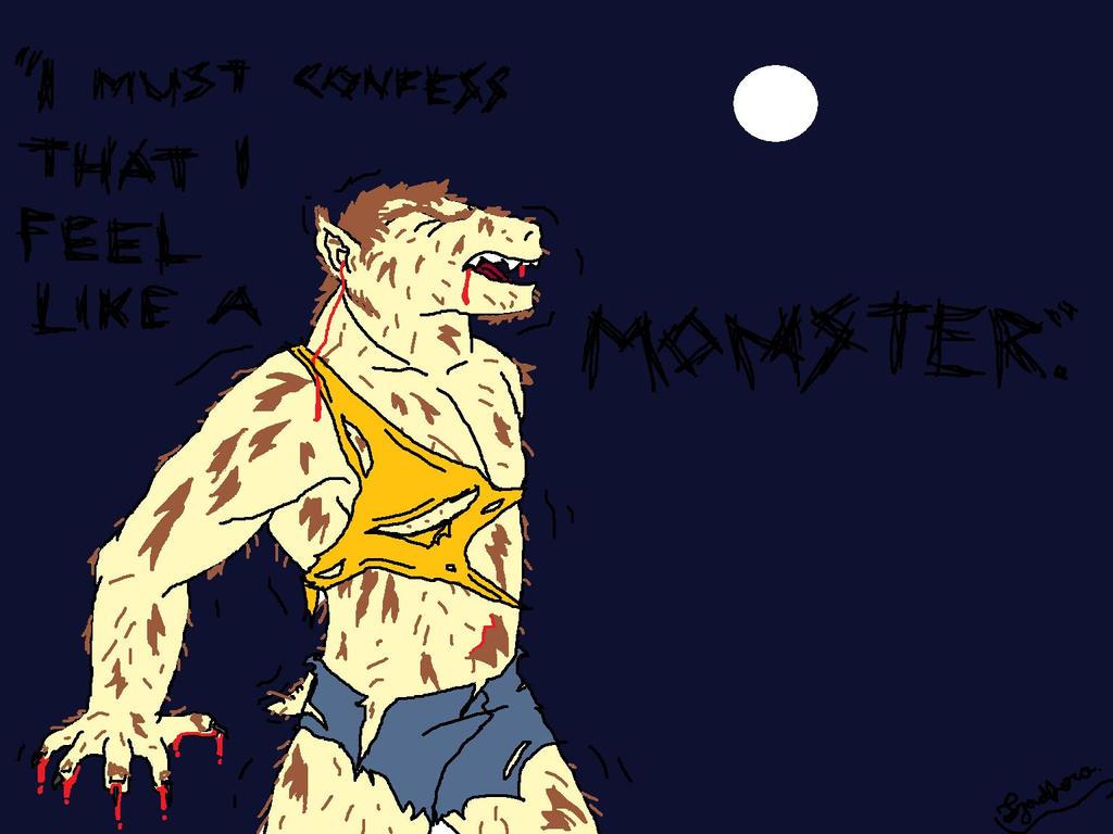 I feel like a monster. by Hakuisthebest on deviantART