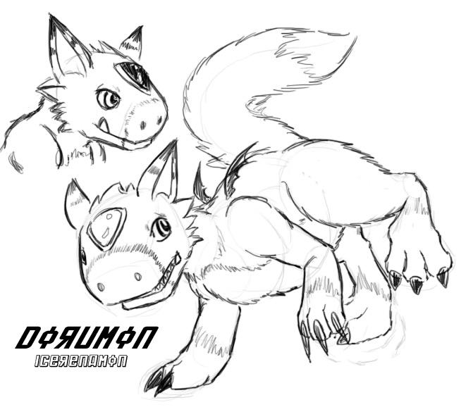 Dorumon sketch by IceRenamon