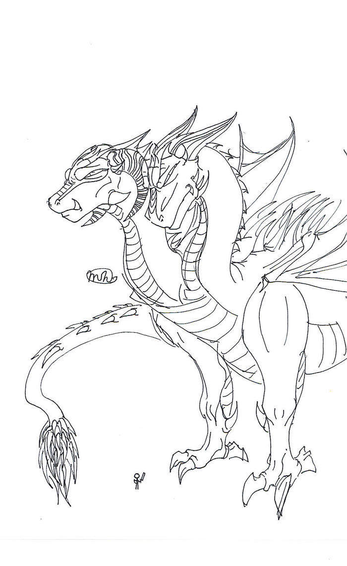 Freehand Two Headed Dragon By Patanu On Deviantart