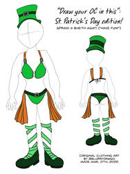''draw your oc in this'' st. patrick's day edition by BlurryDawgo