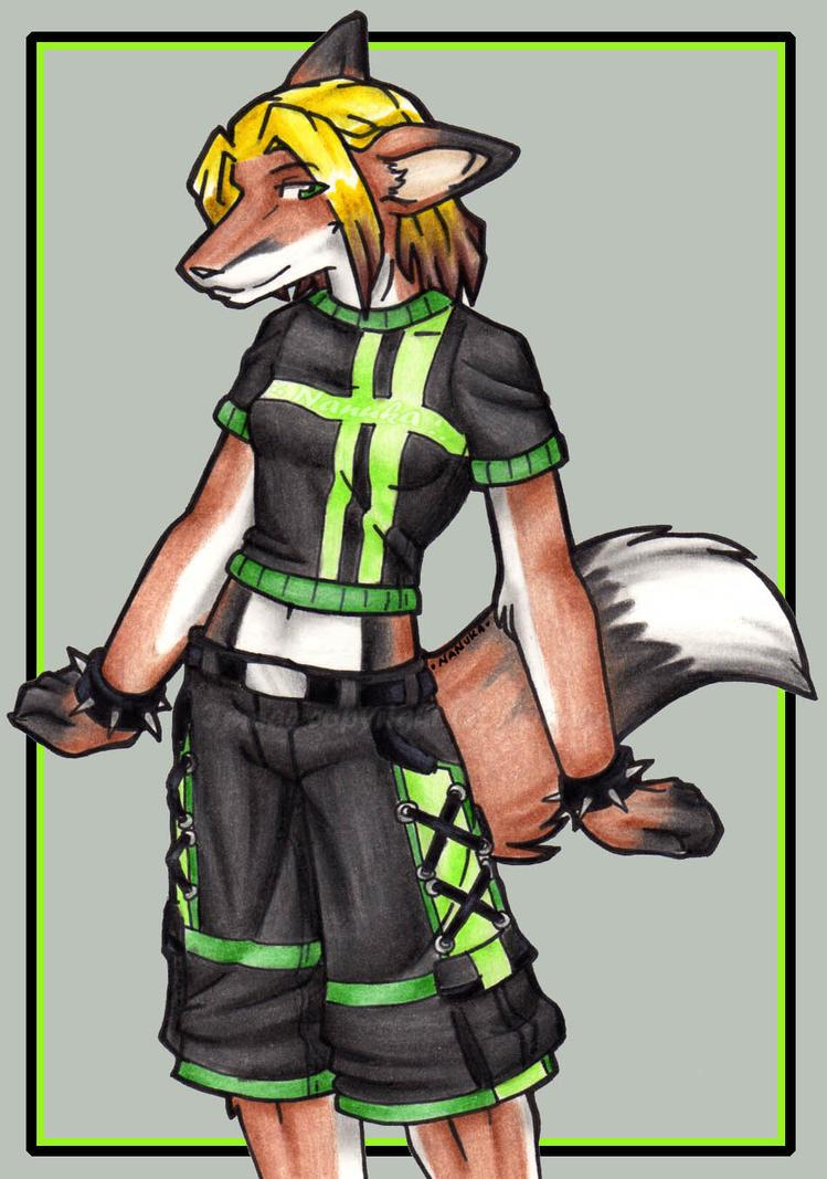 Commission 21 - Green Wif Envy by Nanuka