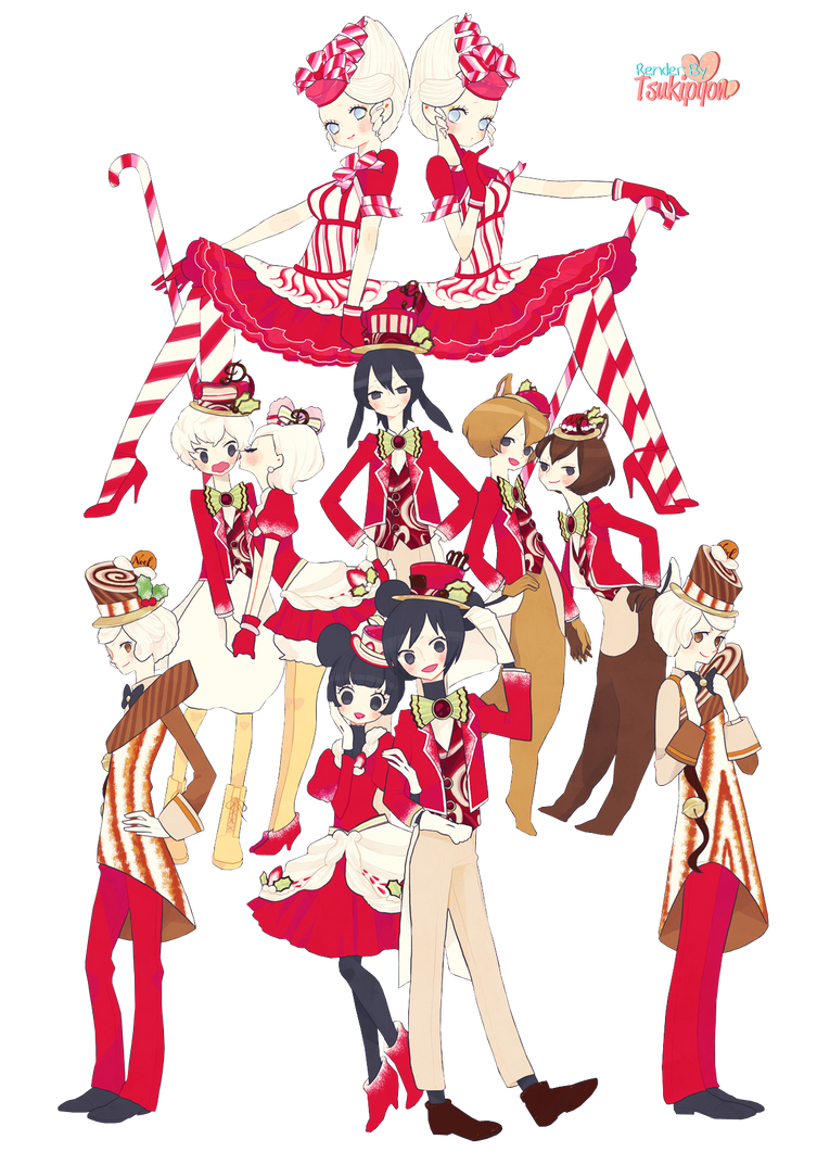 80 Renders Mangas Amour/Amitié Disney_xmas_by_tsukipyon-d6y4l8d