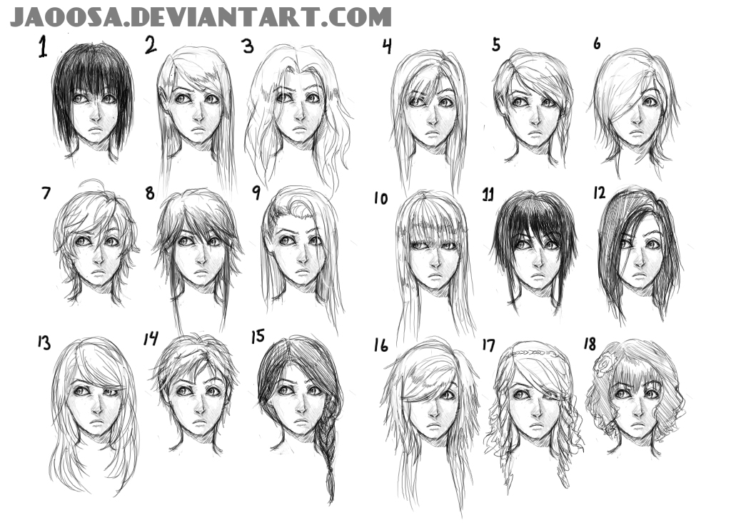 Hairstyles 01 By Jaoosa On DeviantArt