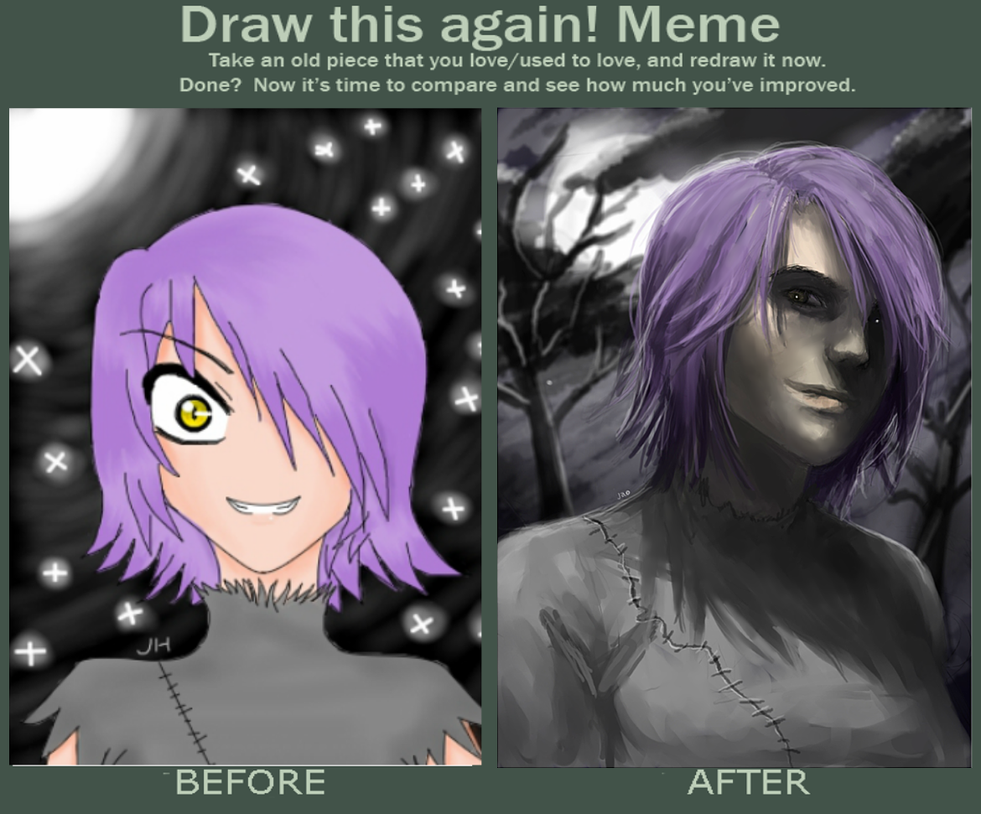 draw this again meme template - draw this again meme four years 2009 2013 by jaoosa on