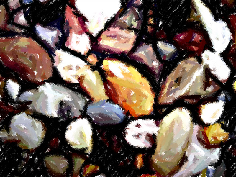 Chalk Pebbles by creationbooth