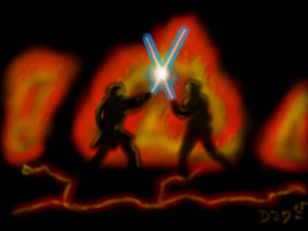Star Wars Ep. III Airbrush by clckwrkorang777