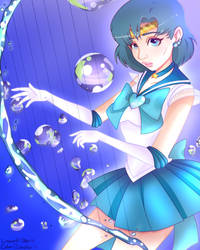 Sailor Mercury Collab Pt. 2 (w/ RainbowFrogz) by d3zydration