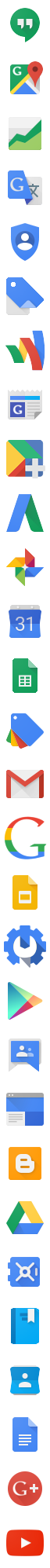 Improved New Google Icons (Old logo-ified)