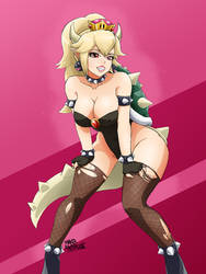 Bowsette (Toadette ver) by BlueSuperSonic