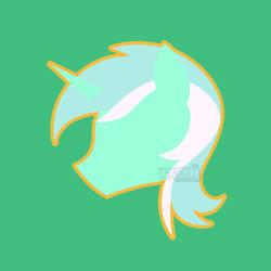 [Fan Art] MLP Minimalist chibi Lyra by denahzi