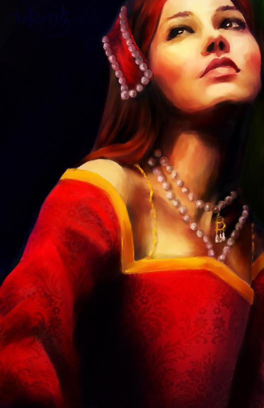 Anne Boleyn B Necklace by darena13