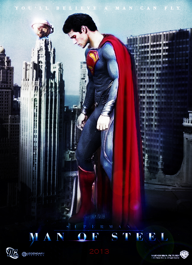Man Of Steel Superman Poster By Kyl El7