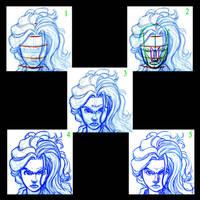 How I Draw-The Face by Pharoahess