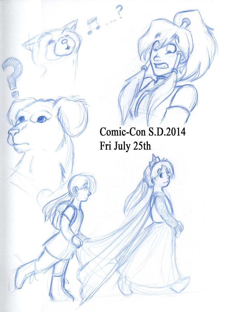 ComicCon2014 Doodles part 6 by Pharoahess