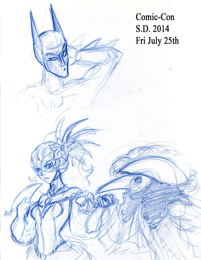 More Comic Con doodles by Pharoahess