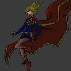 Supergirl-quick paint by Pharoahess