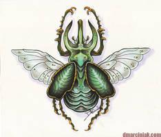 Beetle by dmillustration