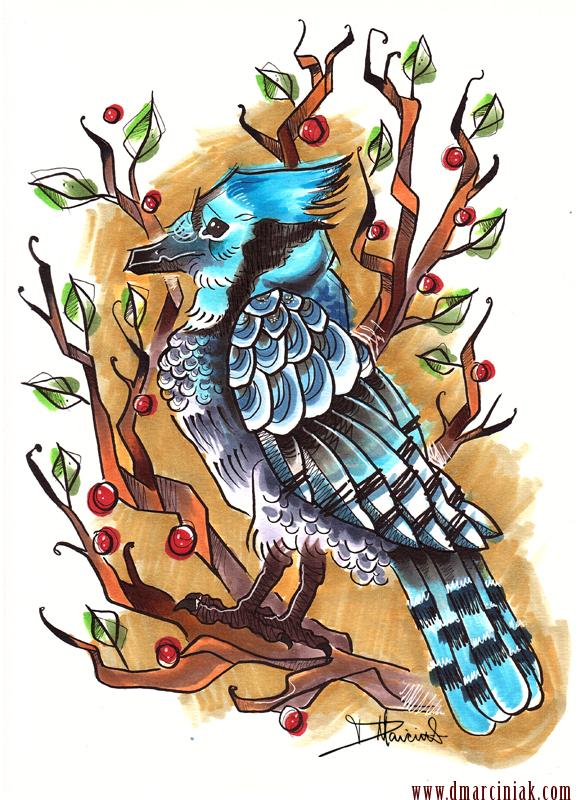 Bluejay by dmillustration