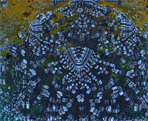 Spacecraft Swarm by singingwithfractals