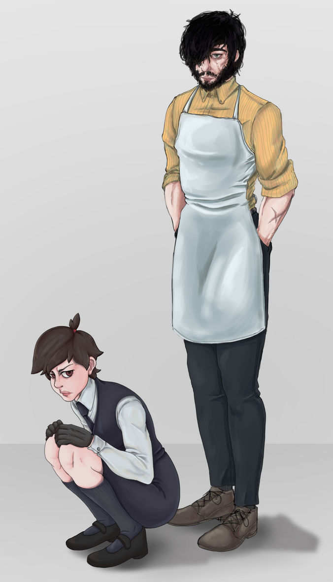 A cleaner and his apprentice by TheClapped