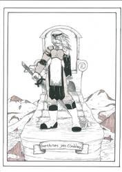 Tarot, Queen of swords by WoodWose