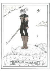 Tarot, the Princess of Swords by WoodWose