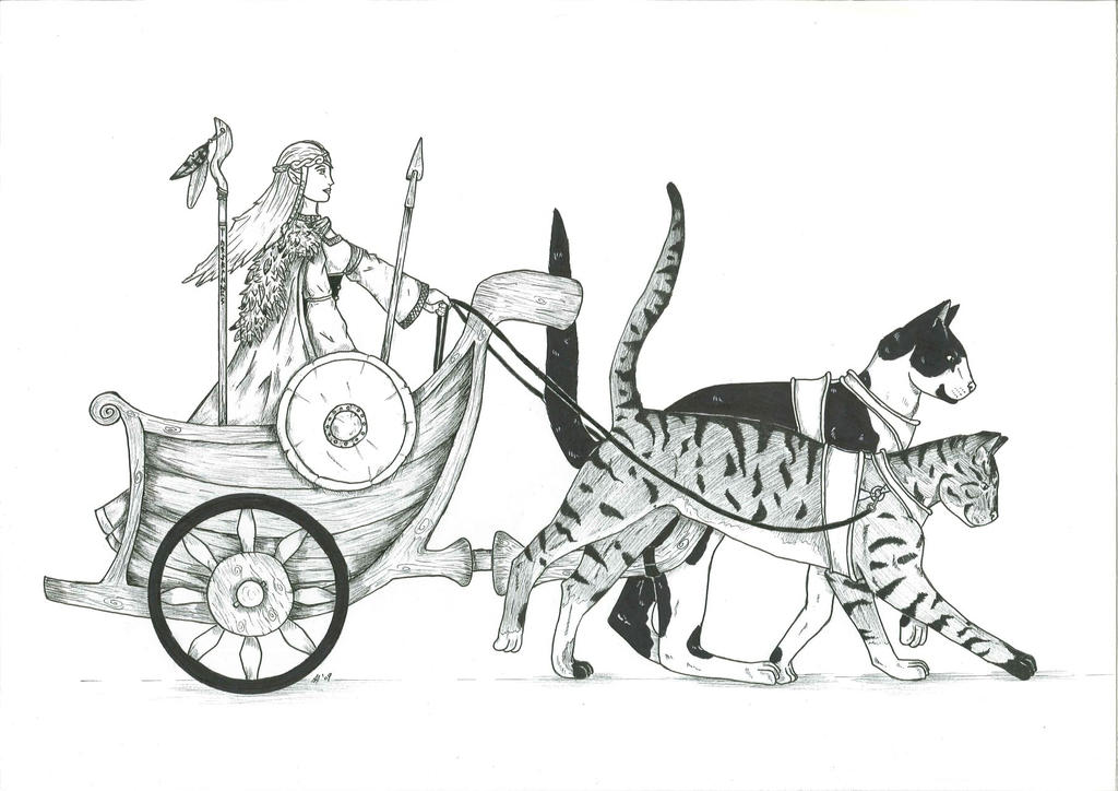 Freyja's chariot by WoodWose