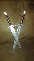 Sky Forge Steel Daggers by SYMA24G