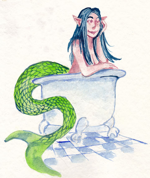 Mermay 2019 Day Sixteen - Bathtub by wpmorse