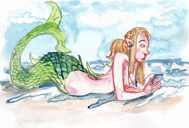 Mermay 2019 Day Eighteen - Texting by wpmorse