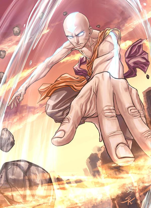 Aang the last airbender by SergChayote