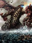 Kaiju vs Alien Robot