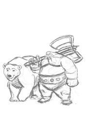 Walrus man with friend WIP