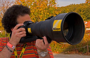 Me with Nikon 400 by gaborvadasz