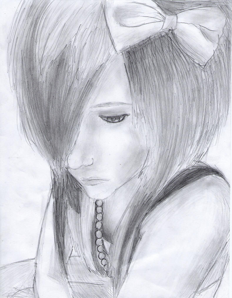Boy And Girl Sketch Tumblr Emo Scene Girl Drawing by