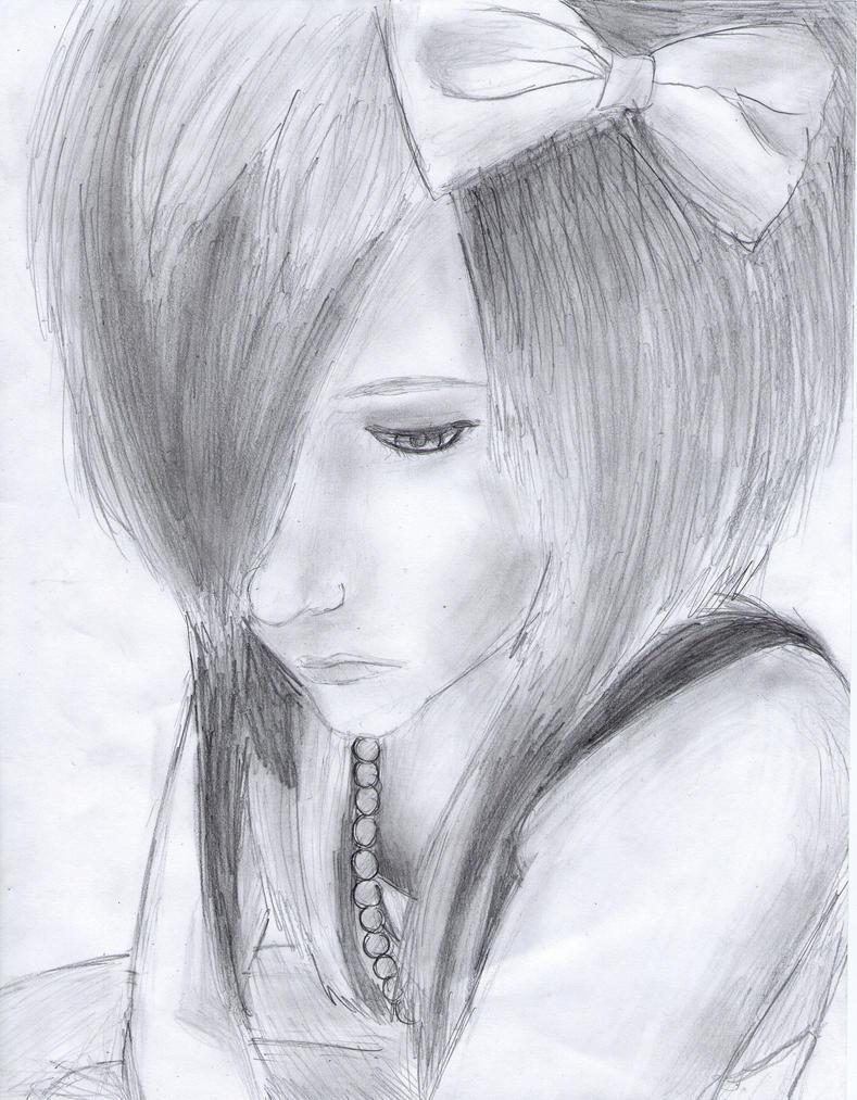 Emo Scene Drawings Emo Scene Girl Drawing by