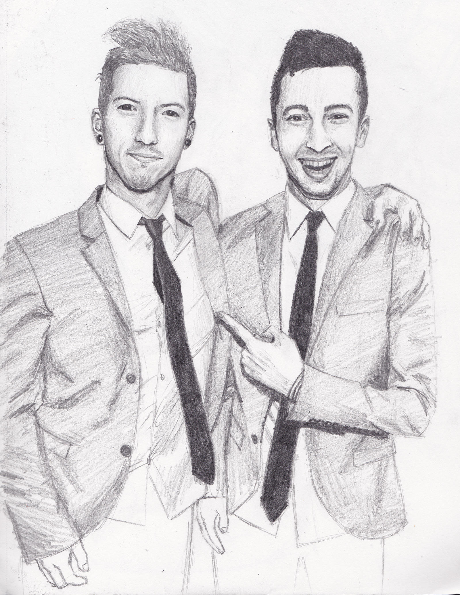 Twenty one pilots at mtv by luckyraindrop on deviantart for Twenty one pilots coloring pages