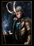 Loki in acryl and gold
