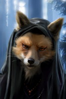 Unfinished Wizard Fox by eleathyra