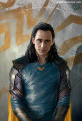 Loki Ragnarok by eleathyra