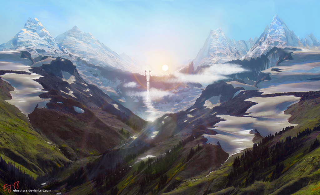The Glacier Gate by eleathyra