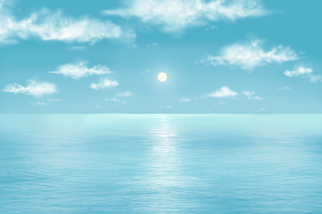 5 min tutorial picture - Blue Sea by eleathyra